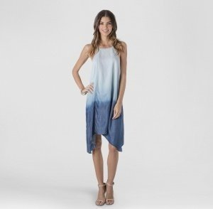Chambray Dip Dry Dress
