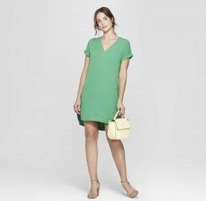 Crepe Dress - Green