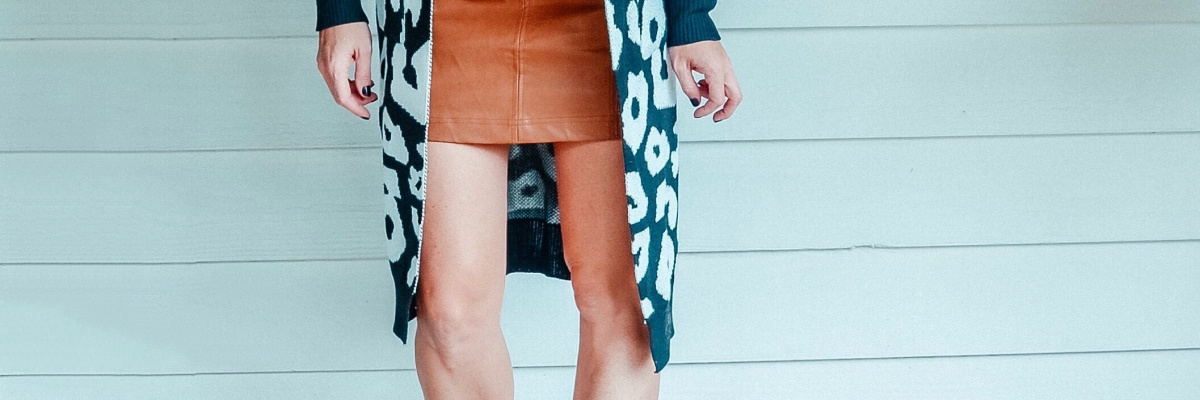 How To Style A Leather Skirt This Fall