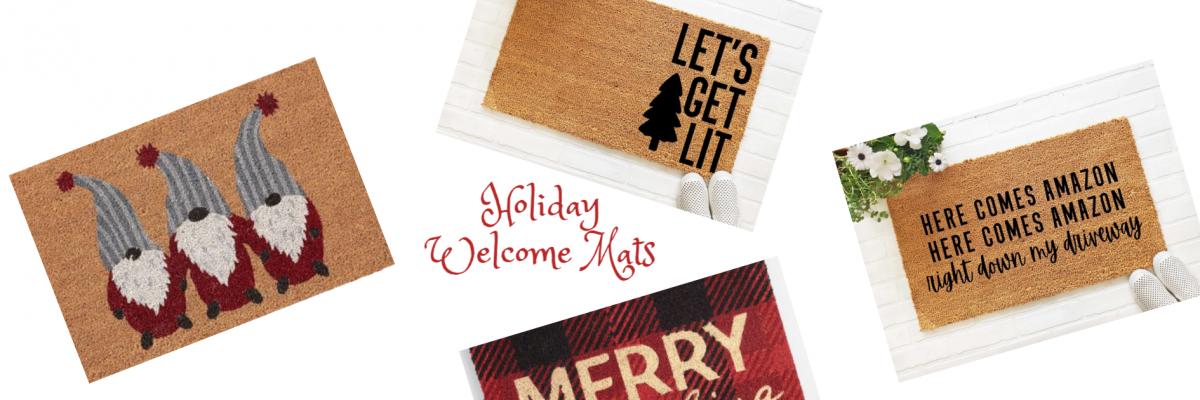 Christmas Welcome Mats